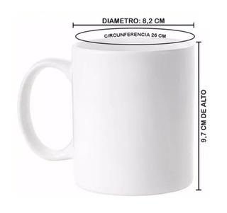 Mug Taza Unicolor Blanco De Porcelana 1.25 Vd Cada Mug