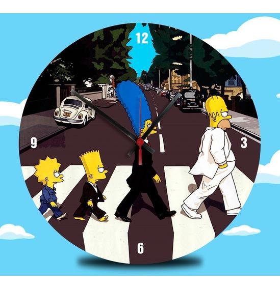 Relógio De Vinil Para Simpsons Abbey Road