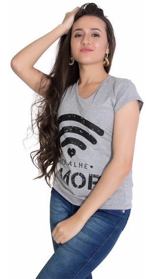 Blusa Feminina T- Shirt Camiseta Estampada| Frete Grátis