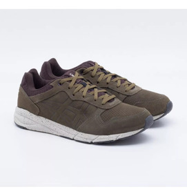 Tênis Asics Tiger Shaw Runner Olive Masculino Retro Casual