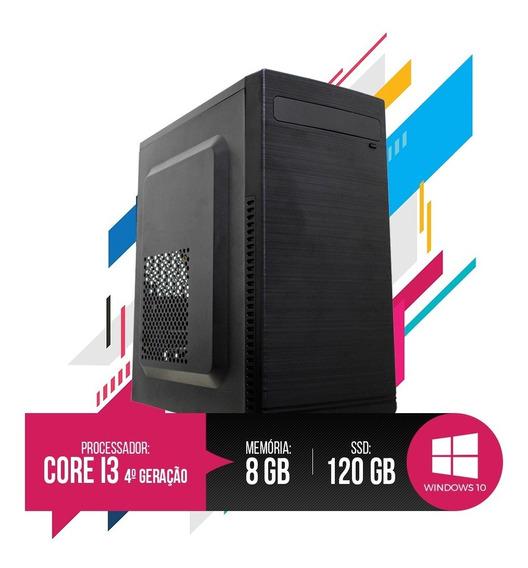 Pc Core I3 4ª Geração 8gb Ram, Hd Ssd 120gb 12x Sem Juros!!!