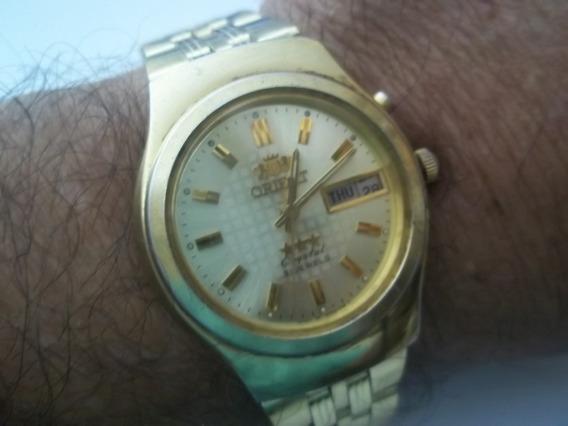 Relogio Orient Automatico Masc Dourado.