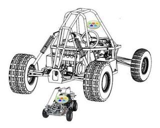 Planos Carro Buggy Karting Go Kart Arenero Construccion