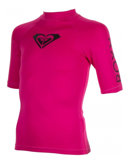 Playera Roxy Niñas Rosa Whole Hearted Ergwr03006mpb0