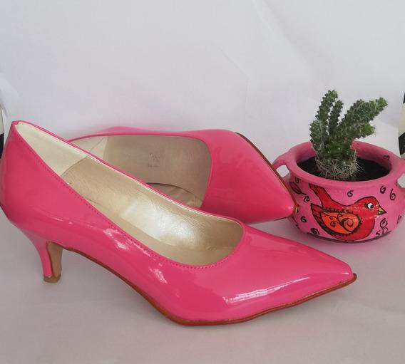 Zapato Stilettos Mujer Fucsia