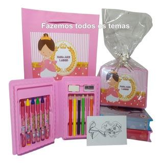 Kit Estojo De Pintura Lembrancinha Personalizada+sacolinha
