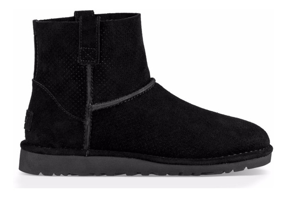 Botas Mujer Ugg Modelo Mini Perf Classic Unlined Negras