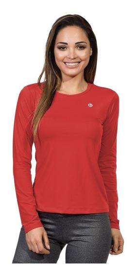 Camisa Uv Feminina Basic Dry Com Proteção Solar Manga Longa