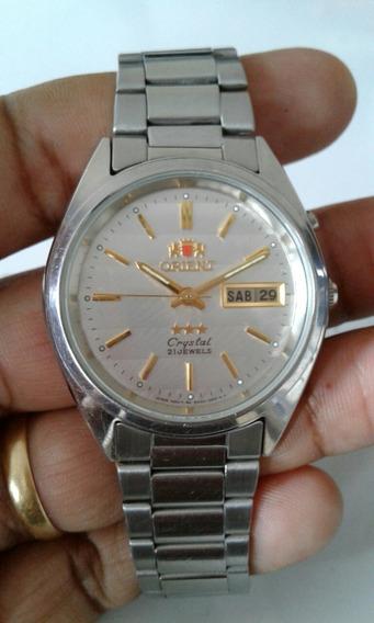 Relógio: Orient Automático Treis Estrelas-usado Sime Novo.