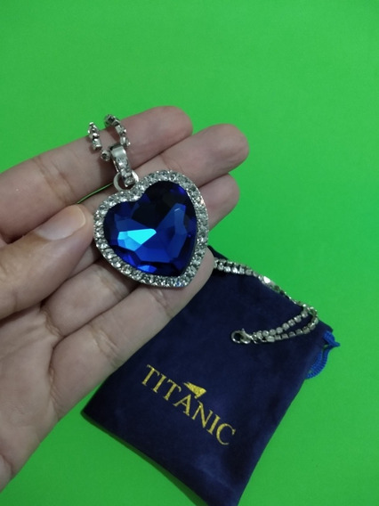 Colar Coração Do Oceano Titanic Rose Saco Protetor