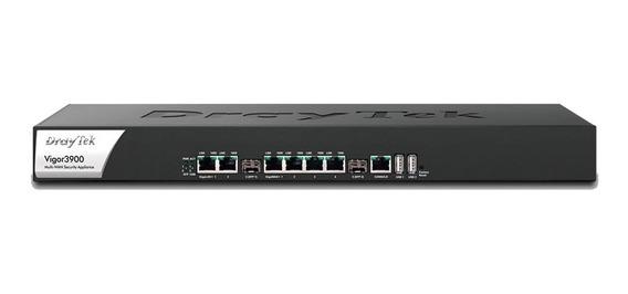 Router Draytek Vigor 3900 Qos 4 Wan Giga 500 Vpn Fiber Sfp