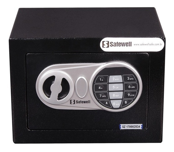 Cofre Eletrônico Safewell 17ef Modelo 2018 6,6 Litros 2.5 Kg