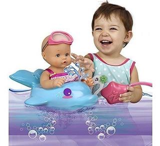 Muñeca De Baño De Burbujas Nenuco Con Flotador De Delfines