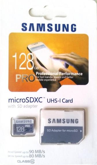 Cartão Sd 128gb Samsung Pro (novo)