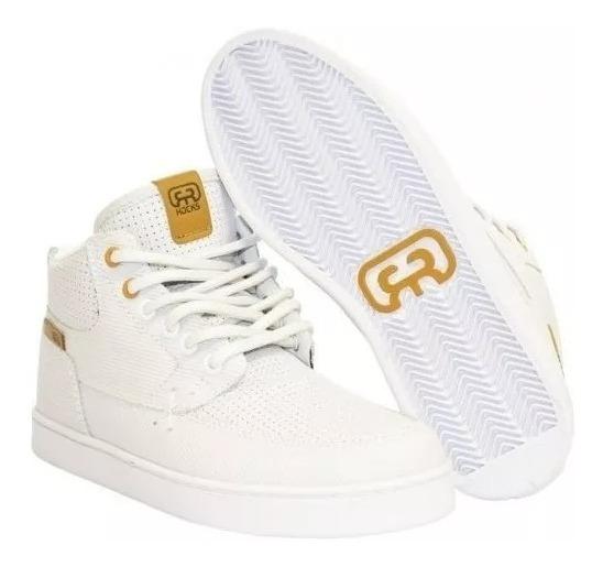 Tênis Hocks Botinha Coruna Branco Couro Original Sneaker