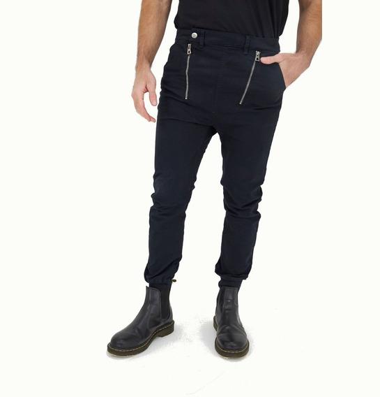Pantalón De Gabardina Con Puños Y Cierres Hombre Wellington