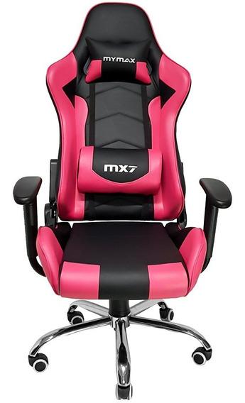 Cadeira Gamer Mx7 Giratoria Preto/rosa ( Frete Grátis) Prom.