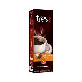 Cápsulas De Café 3 Corações Espresso Coado Clássico 10un