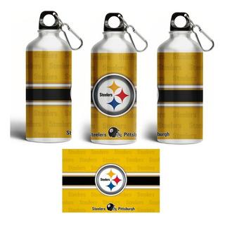 Termo Aluminio Sublimado Diseño Steelers Pittsburgh Acereros