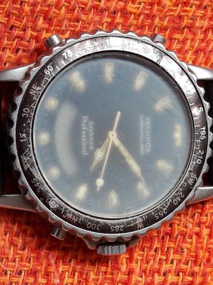 Relógio Antigo Technos Chronoalarm Skydiver Professional