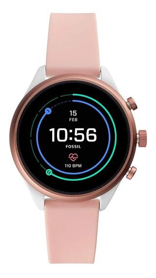 Nuevo Smartwatch Unisex Fossil Sport 41 Ftw6022 Color Rosa