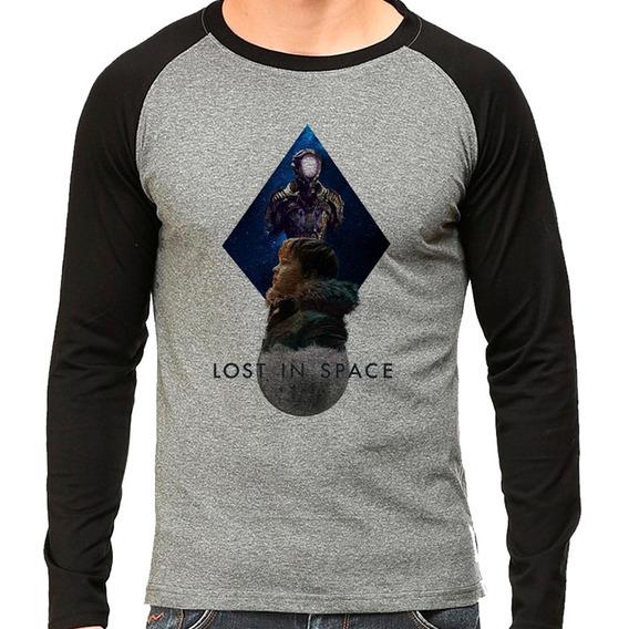 Camiseta Lost In Space V2 Raglan Longa Mescla