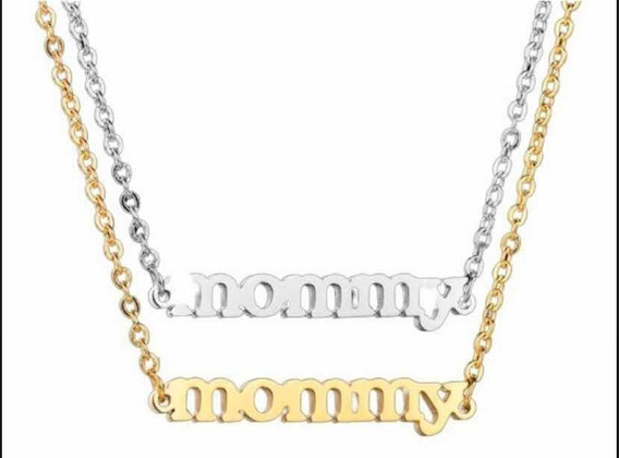Collar Dije Cadena Mommy Para Mamá Acero Inoxidable