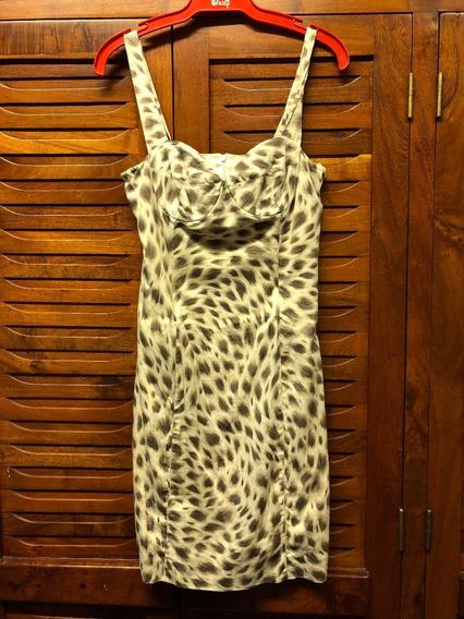 Vestido De Fiesta Elastizado Animal Print
