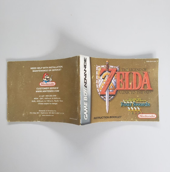 The Legend Of Zelda Link To The Past Gba Manual Frete Gratis