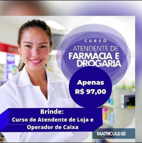 Imagem 1 de 1 de Atendente De Farmácia Ganha De Brinde Mais 2 Cursos! 97,00