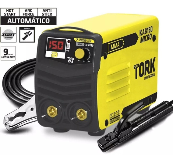 Máquina Solda Inversora Ie-6150 Kab150 220v Micro Super Tork