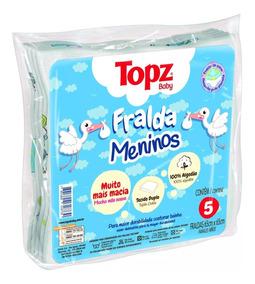 Fralda De Pano Básica Estampada Menino Topz Baby Cremer