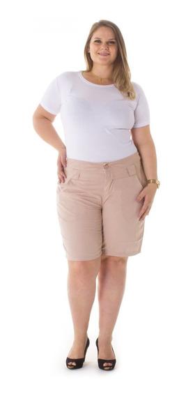 Bermuda Feminina Jeans Alfaiataria Plus Size