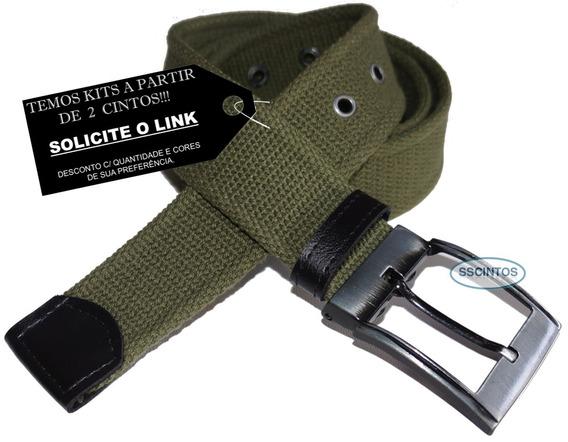 Cinto Lona Premium Masculino Fivela C/ Regulagem L46 Ck