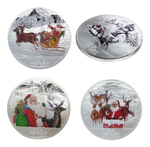 Imagen 1 de 12 de Moneda Conmemorativa De Navidad Plata X4