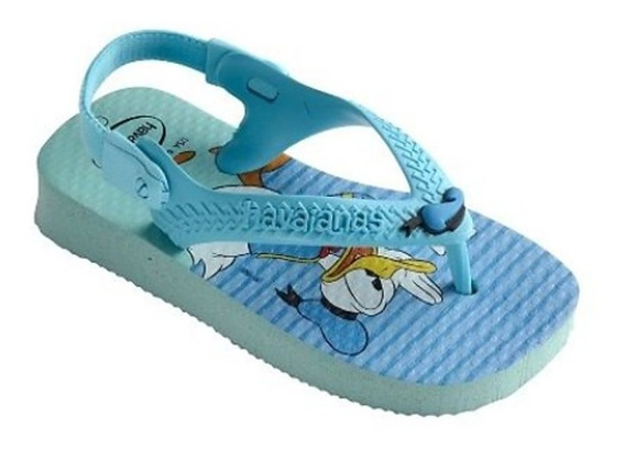 Chinelo Infantil Havaianas Pato Donald Elastico Azul 005375