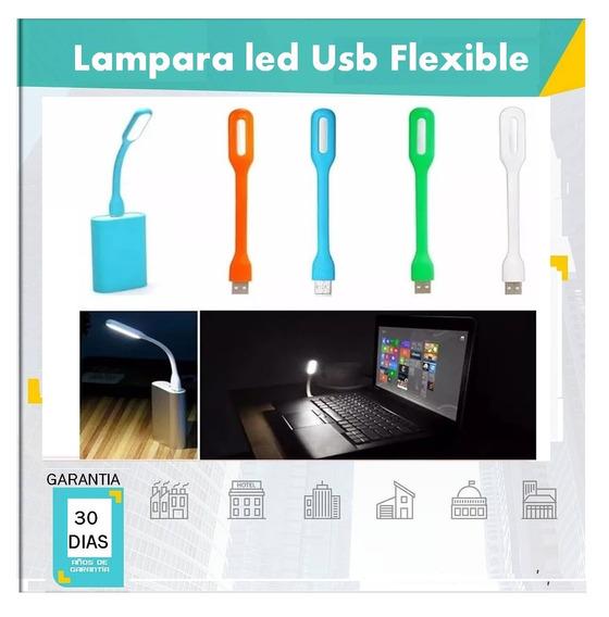 Lampara Led Usb Flexible Linterna Laptop Pc Powe Bank Pack 3