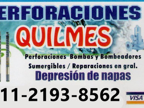 Perforacion De Agua Potable Con Bomba Sumergible, Pozos!