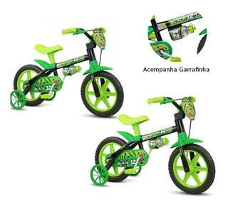Kit Bicicleta Infantil Aro 12 Nathor Black 2 Unidades