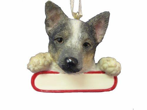 Ornamento Del Perro De Ganado Australiano Santas Pals Con
