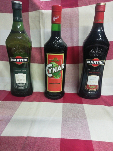 Martin Dry, Martini Rosso, Cynar. Precio Por Lote.