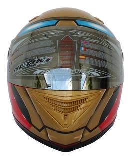 Casco De Moto Nenki Iron Man Ff830