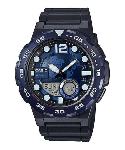 Relógio Casio Original Aeq-100w-2avdf