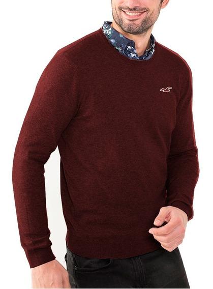 Sweater Hollister De Hombre Cuello Redondo Importados Envios
