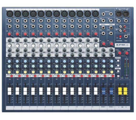 Mesa Soundcraft Epm 12. Ótimo Para Bandas, Igrejas E Estudio