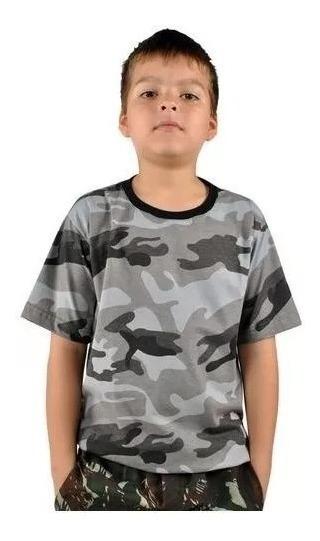 Camiseta Infantil Camuflado Urbano