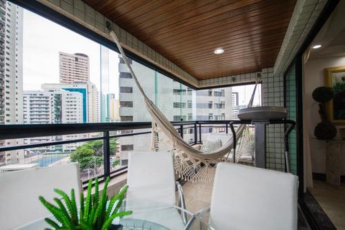 Imagem 1 de 30 de Apartamento Com 4 Quartos À Venda, 225 M² Por R$ 1.600.000 - Boa Viagem - Recife/pe - Ap2587