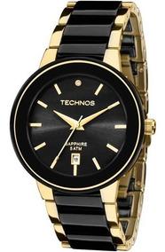 Relógio Technos Cerâmica Preto Com Dourado 2115krs/4p