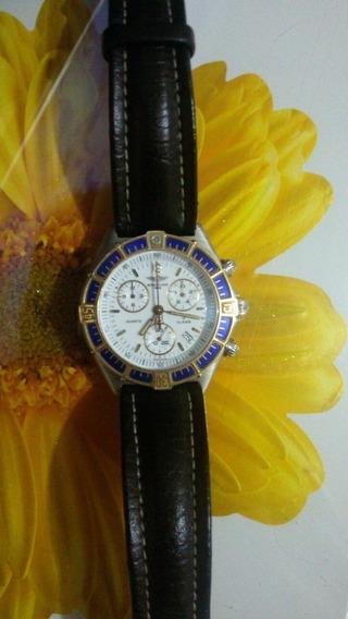 Relógio Breitling Top Ten Impecável Catraca Em Ouro Original