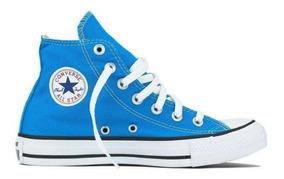 Tênis Converse All Star Azul Cano Alto Cano Médio Original